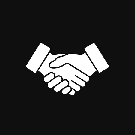 icon: Business handshake contract agreement icon. Vector business symbol.
