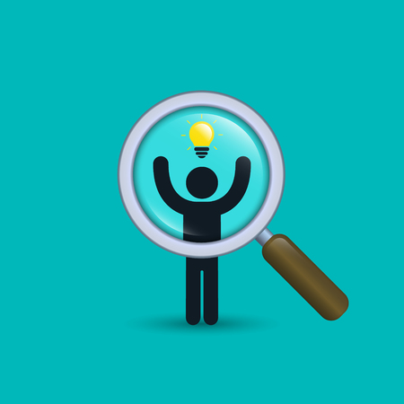Search for talent with idea illustration. Looking for creativity employees . Vector business concept. Illustration