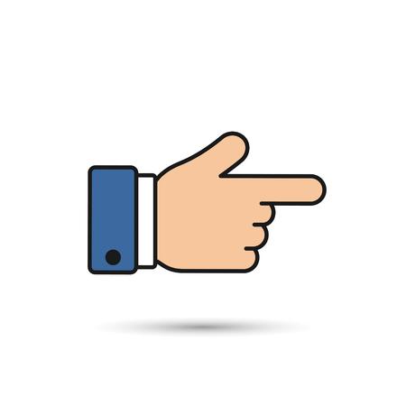 Forefinger icon color. Point finger vector illustration.