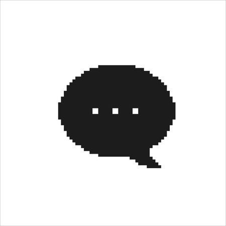 Pixel Speech Bubble icon, vector isolated simple illustration.