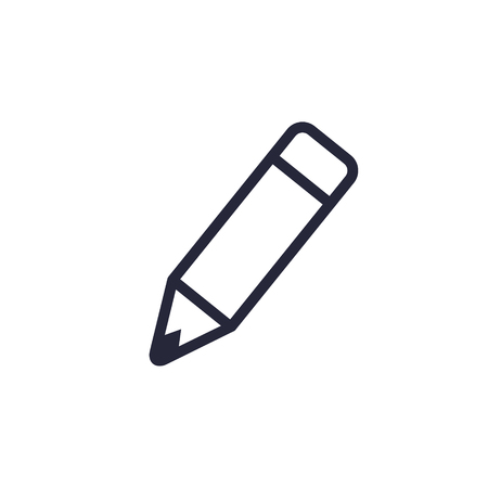 Pencil Line Icon, Vector Flat Style. Isolated Outline illustration. Illustration