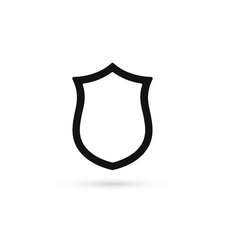 Shield vector icon. Security line symbol. Protection isolated outline sign.