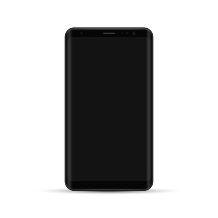 Realistic smartphone detail mock-up, Blank screen. Vector modern cell phone. Isolated illustration.