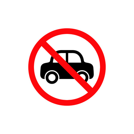 No Car Sign. Vector isolated no parking symbol.