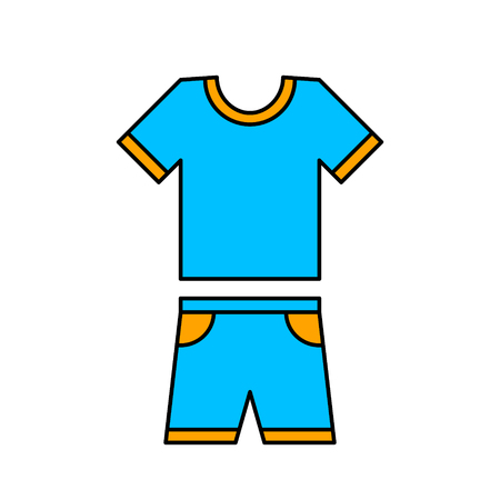 Tshirt and Short Icon. Vector isolated simple illustration.