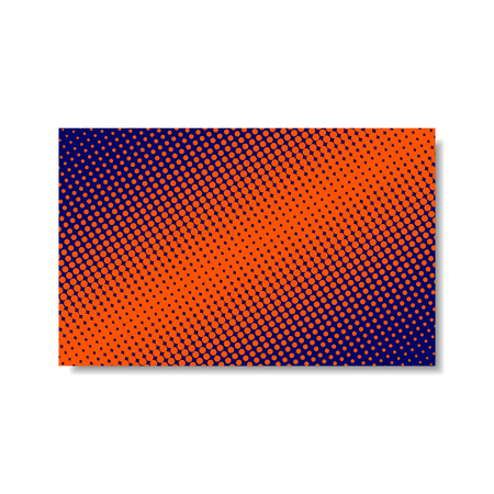 Colorful Dotted Cover. Vector Isolated Halftone Poster or Business Card in Pop Art Style.
