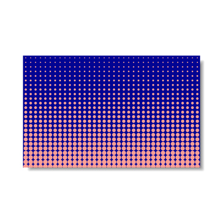 Colorful Dotted Cover Pink and Blue isolated on white Vector Halftone Poster or Business Card in Pop Art Style.