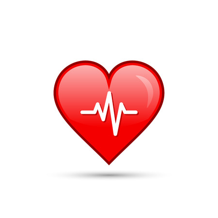 Red heart beat isolated icon. Vector. Illustration
