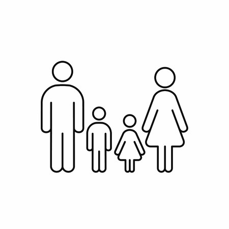 Family outline icon. Vector isolated family line illustration.