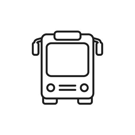 Bus otline icon. Vector islated line bus symbol.