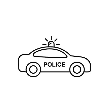 Police Car icon outline Illustration