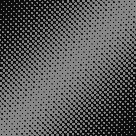 Pop Art Halftone Dotted background. Halftone grey dots on dark background.