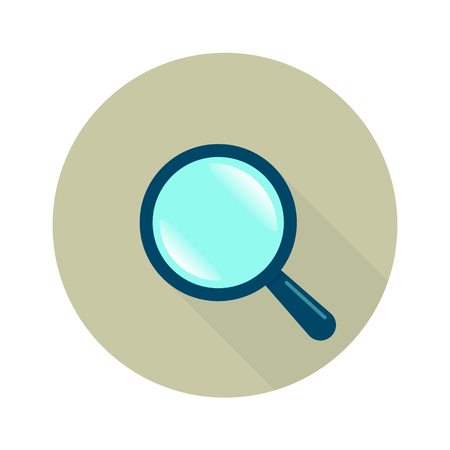 Magnifying glass icon vector flat style for search business illustration.