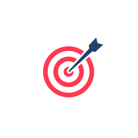 Target Icon. Vector isolated illustration in flat style.