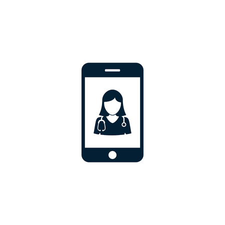 Mobile Doctor Icon, Medical concept Vector illustration. Illustration