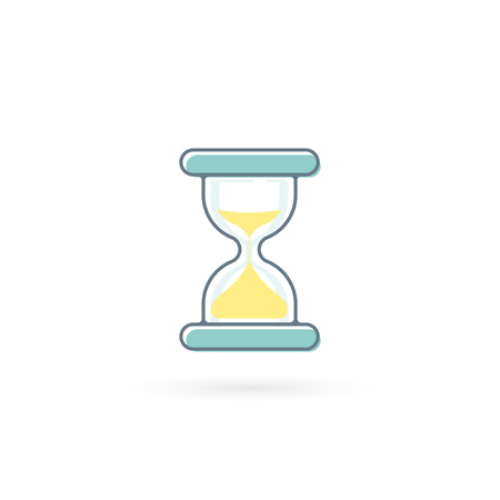 Sandclock icon. Sandglass Vector isolated color flat illustration.