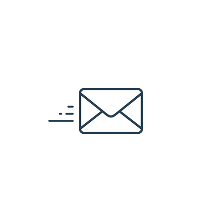 Envelope line icon, send mail icon. Vector isolated symbol. Ilustrace