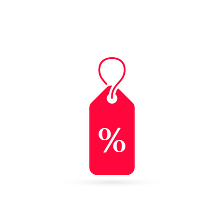 label percent icon. sale discount illustration - Vector price label. 写真素材 - 126852282