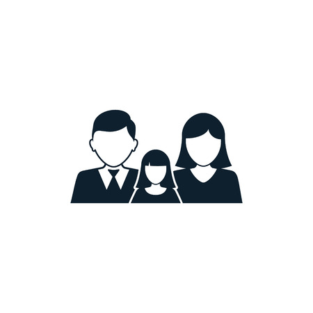 Family icon, Vector isolated simple silhouette illustration. Stock Illustratie
