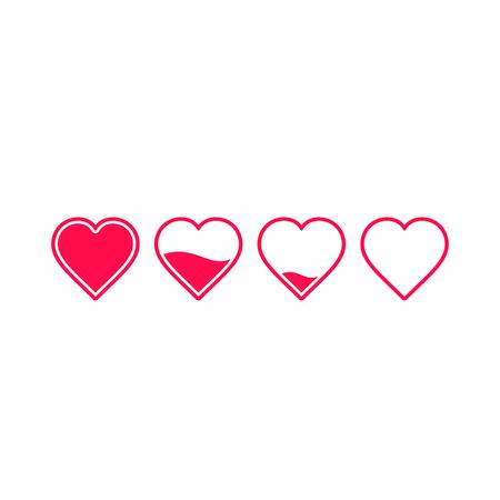 Heart rating, love meter illustration, vector health or love concept. 写真素材 - 126221852