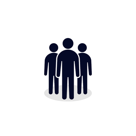 People vector icon. Business team simple silhouette illustration. 写真素材 - 126054851
