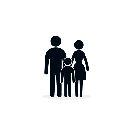 Family Icon, Vector isolatred Flat Sign of family, full height. 写真素材 - 126054860