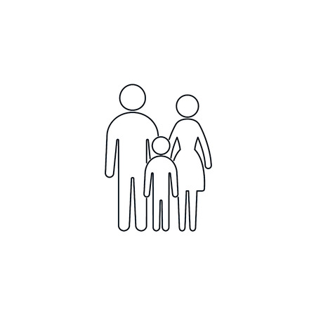 Family line Icon, Vector isolatred Flat Sign of family, full height.