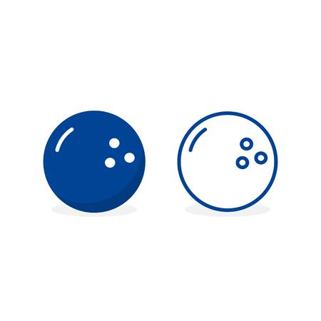 Bowling Ball icon. Game symbol. Flat Vector illustration. 写真素材 - 125867035