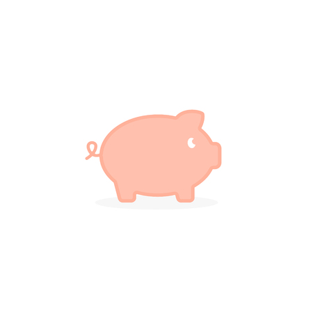 Pig icon illustration vector isolated sign symbol.