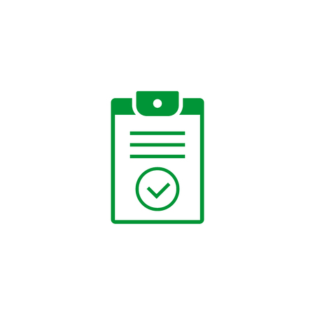 Checklist vector icon, isolated symbol in flat style.  イラスト・ベクター素材