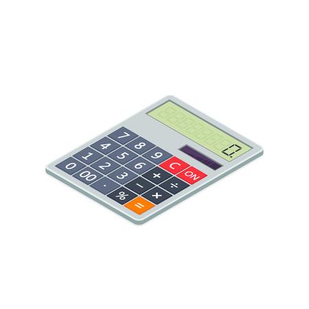 Calculator icon isometric illustration. 3d vector illustration isolated on white background.