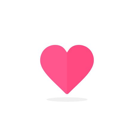 Heart icon, Vector isolated flat icon, love symbol.