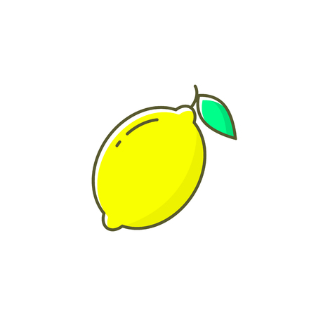 Lemon vector icon illustration isolated on white background. Ilustracja