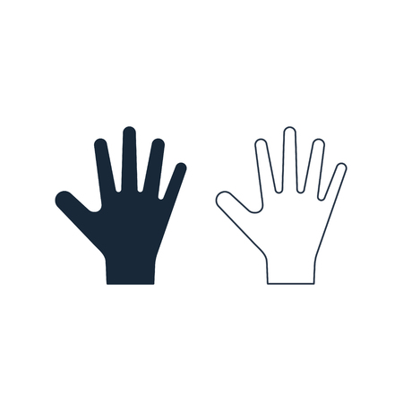 Palm Hand icon vector, filled flat sign isolated on white, simple illustration.