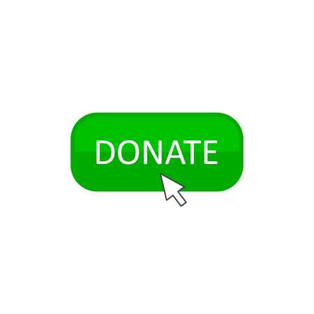 Donate Button Click icon, Vector isolated simple illustration.