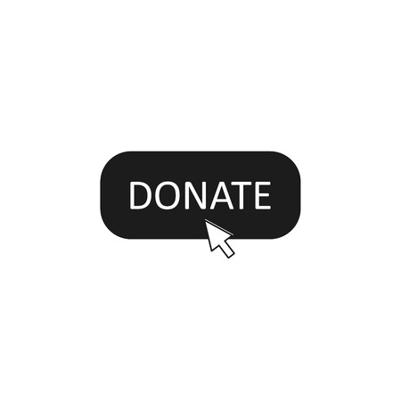 Donate Button Click Vector isolated simple illustration.
