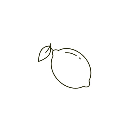 Lemon Thin line Icon. Stroke Pictogram flat Graphic for Web Design Vector illustration. 写真素材 - 124241674