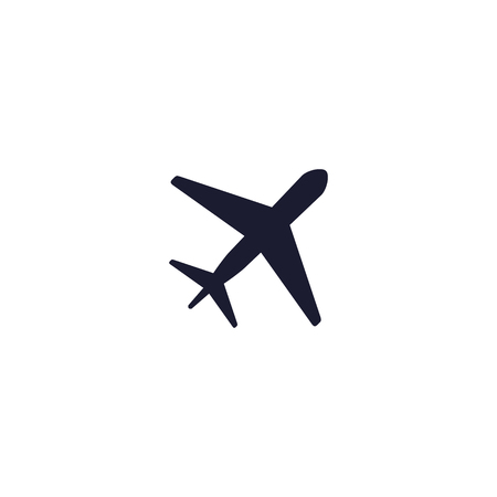 Plane icon vector, flat illustration, pictogram isolated on white.