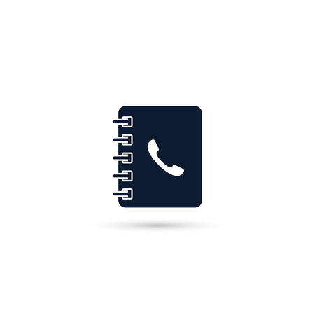 Contacts Book vector isolated icon, flat design.