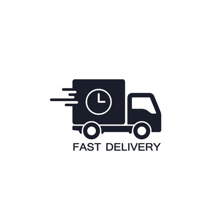 Delivery truck icon isolated on white background. Fast Delivery concept. Vector simple illustration.