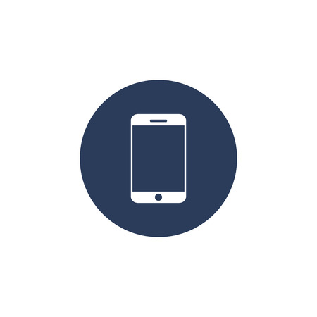 Smartphone icon in circle dark background, Smart Phone vector flat style simple illustration. 写真素材 - 122662522