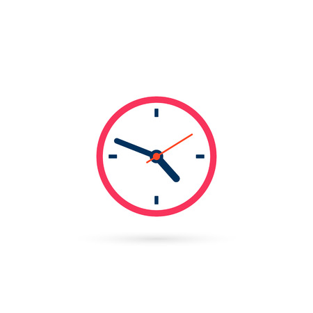 Clock icon in trendy flat style isolated on white background. Vector illustration.