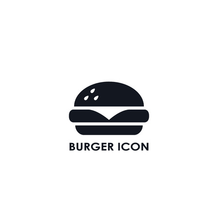 Burger Fast food icon, vector simple black isolated illustration.