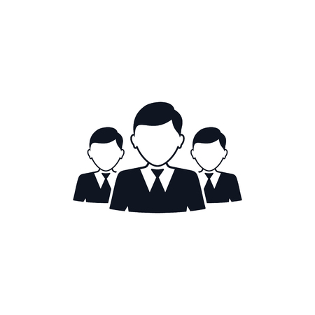 Business Team Icon, Vector isolated simple illustration.