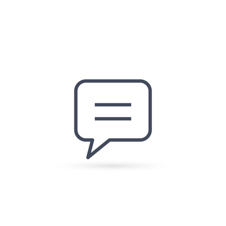 Speech Bubble icon. Vector isolated simple line communication chat symbol. 写真素材 - 122868657