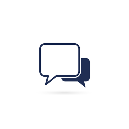 Speech bubbles Icon vector flat design illustration. Ilustracja
