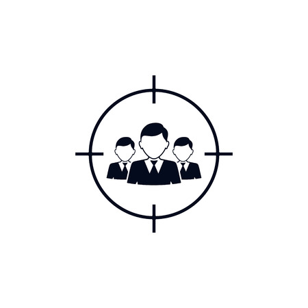 Target audience icon. vector isolated simple illustration.  イラスト・ベクター素材
