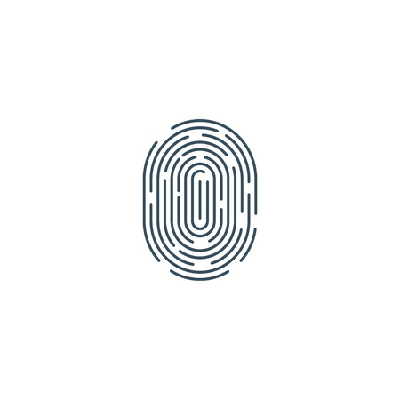 Finger print vector icon simple illustration isolated on white background.