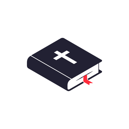 Bible icon isometric isolated on white background, Vector flat style symbol. Ilustracja