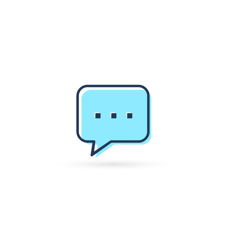 Speech bubble icon, Vector message symbol isolated on white. Stock Illustratie